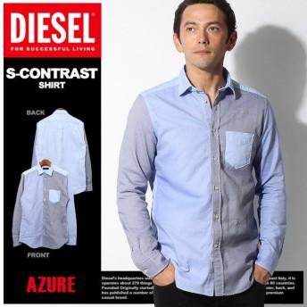 (プレミアム価格) ディーゼル DIESEL ウェア トップス 長袖シャツ S CONTRAST CAMICIA メンズ