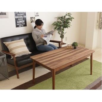 ハイタイプ継脚こたつテーブル(ハイテーブル/センターテーブル) 〔長方形〕 幅110×奥行60cm 木製 木目調 ファン付きヒーター
