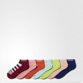 (セール)adidas(アディダス)スポーツアクセサリー ソックス HM 7P ボーダーアンクルソックス U BSJ04 AZ1931 2224 ヘイズコーラルS13