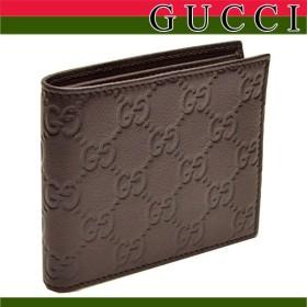 ポイントキャンペーン中 グッチ 財布 GUCCI メンズ 二つ折り 札入れ 財布 グッチシマ 260987 アウトレット レディース