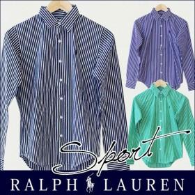 ポロ・ラルフローレン Polo Ralph Lauren 新作 シャツ レディース 長袖 ストライプ ワンポイント rlylccps キャッシュレスで全品6%還元