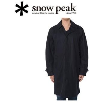 スノーピーク snowpeak コート/ウール3レイヤーウィンドストップトレンチコート L ネイビー/JK-15AU40504NV 【SP-APPL】