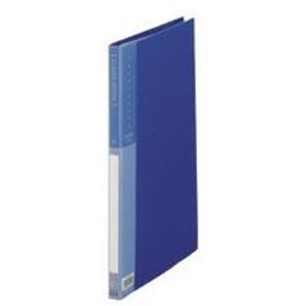 (まとめ) TANOSEE クリヤーブック(クリアブック) A4タテ 20ポケット 背幅17mm ブルー 1冊 〔×30セット〕
