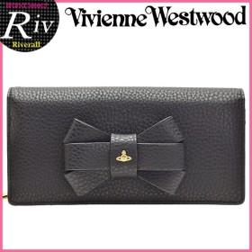 キャッシュレスで全品6%還元 ヴィヴィアンウエストウッド 財布 長財布 二つ折り リボン BOW 1032V30V