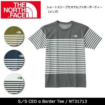 ノースフェイス THE NORTH FACE Tシャツ ショートスリーブセオアルファボーダーティー(メンズ) S/S CEO α Border Tee NT31713【メール便・代引不可】