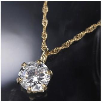 K18YG0.3ctダイヤモンドペンダント/ネックレス