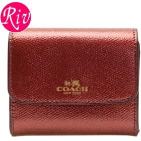 コーチ COACH コインケース 小銭入れ カードケース メタリックチェリーレッド レザー f54843ime42