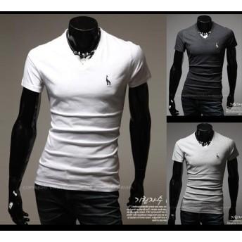 メール便のみ送料無料2 ワンポイントデザイン半袖Tシャツ