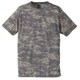 吸汗速乾ドライクールナイス カモフラージュ Tシャツ( 迷彩 Tシャツ) CB6589 ACUSサイズ