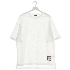 【チャイハネ】刺繍入りMEN'SビックシルエットTシャツ ホワイト