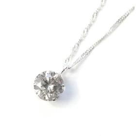 18金ホワイトゴールド 0.5ct ダイヤモンドペンダント/ネックレス〔代引不可〕