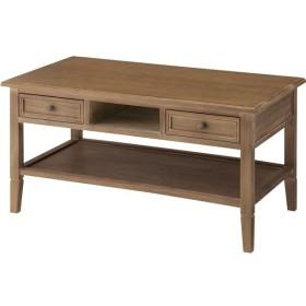 センターテーブル 〔Aube〕オーブ 木製 棚/引き出し収納付き COD-461BR ブラウン〔完成品〕