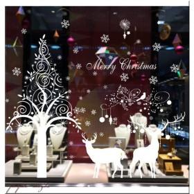 クリスマス ガラスフィルム ウォールステッカー B クリスマスステッカー インテリアシール クリスマスツリー 壁紙 窓