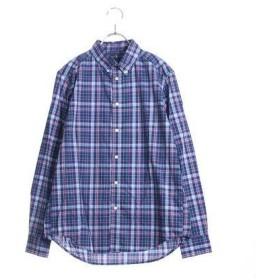 ポロラルフローレン POLO RALPH LAUREN ワンポイント マドラスチェック シャツ (ブルー×グリーン)