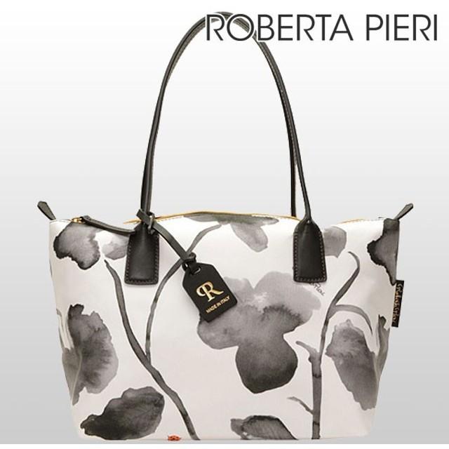 キャッシュレスで全品6%還元 ロベルタピエリ バッグ ROBERTA PIERI トート ショルダー FLOWER MONOC RPRBFMSTBL monoflotote