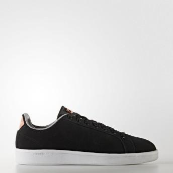 (セール)adidas(アディダス)シューズ カジュアル CLOUDFOAM VALCLEAN W ML CFQ75 AW3996 レディース コアブラック/コアブラック/サングロー S16