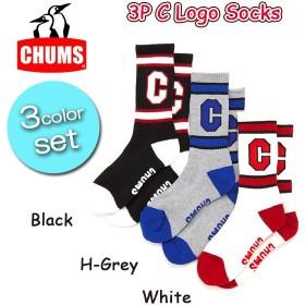 チャムス chums 3P Cロゴソックス 3P C Logo Socks ch06-1000