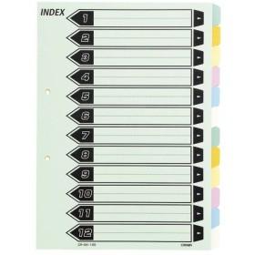 (業務用セット) カラーインデックス 6色12山(2穴) CR-IDK-120 5組入 〔×10セット〕