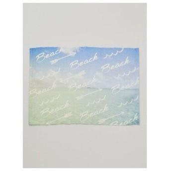 【Kahiko】ALOHA PHOTOラグマット約45×65cm アクア