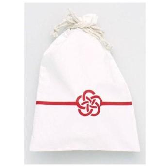 【カヤ】くるみ巾着大 ホワイト×レッド