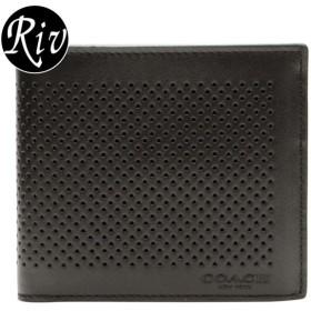 da07bfaf5992 コーチ COACH 財布 二つ折り 札入れ メンズ ブラック レザー アウトレット f75278blk
