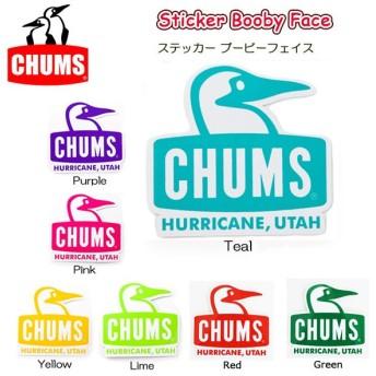 チャムス chums ステッカー ブービーフェイス CHUMS Sticker Booby Face シール ロゴステッカー ch62-0048