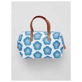 【カヤ】和花ふくれ織りミニボストンバッグ ブルー