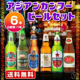 父の日遅れてごめんね 父の日プレゼント お酒 送料無料 海外ビール6本飲み比べセット アジアンカンフービールセット