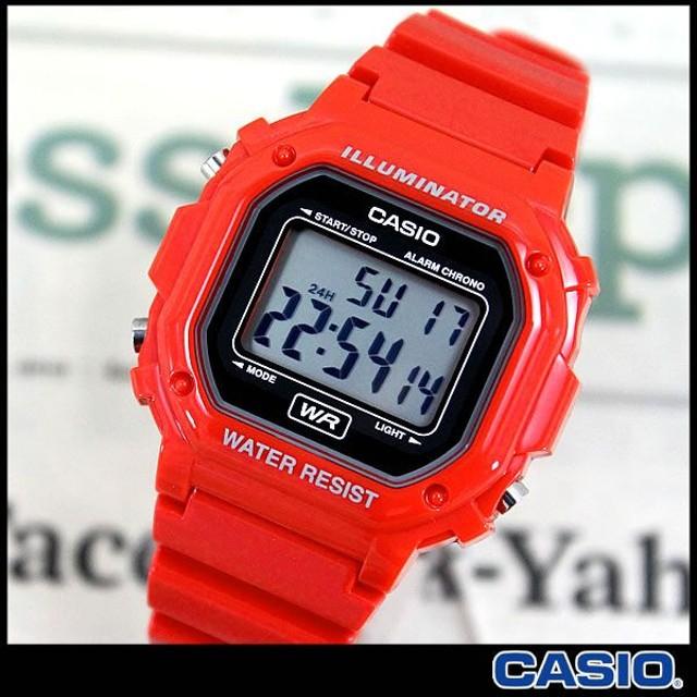 腕時計 CASIO カシオ 腕時計 デジタル F-108WHC-4A レッド 時計