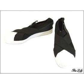 quality design dd69a 8faeb 中古 美品 adidasスーパースター スリップ オン WUS11 黒白 スニーカー SUPER STAR