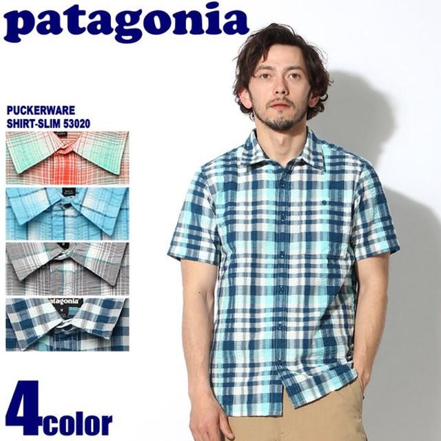 パタゴニア PATAGONIA 半袖シャツ パッカーウェア シャツ スリム メンズ