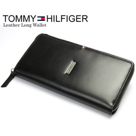 6319666a1101 エントリーでP10倍 TOMMY HILFIGER トミーヒルフィガー ラウンドファスナー 本革 レザー ロゴ 長財布