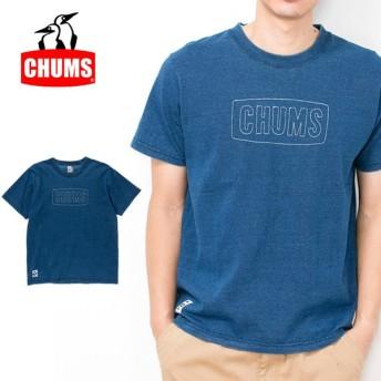 チャムス chums Tシャツ Stitched Logo T-Shirt Indigo ステッチドロゴTシャツインディゴ CH01-1341 メンズ 正規品【服】【t-cnr】【メール便発送・代引き不可】