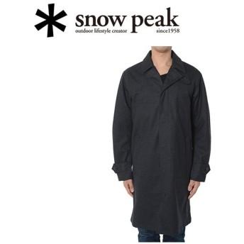 スノーピーク snowpeak コート/ウール3レイヤーウィンドストップトレンチコート M グレー/JK-15AU40503GY 【SP-APPL】