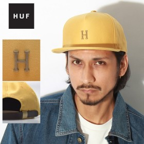 HUF ハフ スモールメタル H ストラップバックキャップ ユニセックス