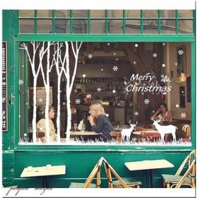 クリスマス ガラスフィルム ウォールステッカー E クリスマスステッカー インテリアシール クリスマスツリー 壁紙 窓