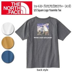 ノースフェイス THE NORTH FACE Tシャツ ショートスリーブ メンズ S/S Square Logo Yosemite Tee NT31843 日本正規品【メール便・代引不可】