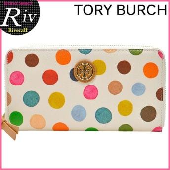 トリーバーチ TORY BURCH 財布 長財布 レディース ラウンドファスナー ドット 水玉 21159175