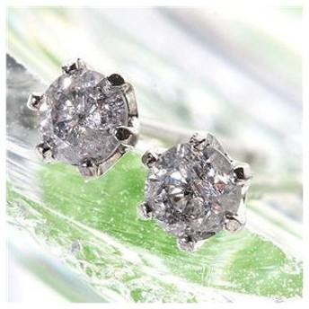 K18WG0.1ctダイヤモンドピアス
