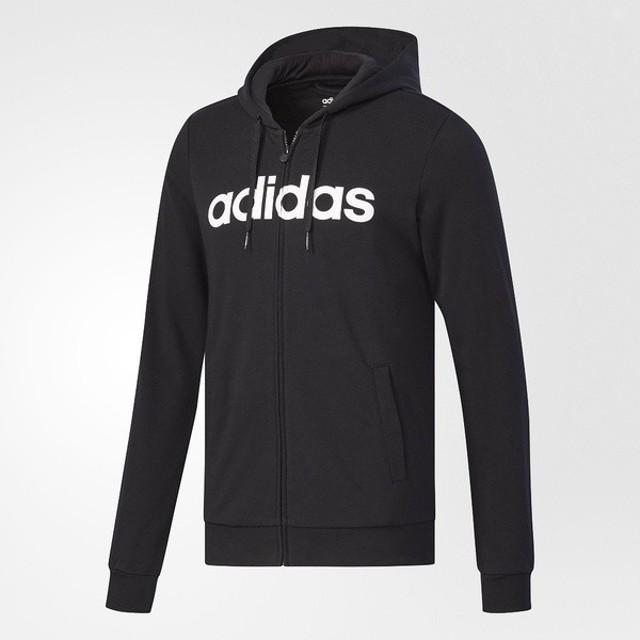 (セール)adidas(アディダス)メンズスポーツウェア その他スウェット BC 裏毛スウェットジップパーカー M DJO33 CD3182 メンズ ブラック/ホワイト
