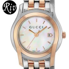 キャッシュレスで全品6%還元 [厳選]グッチ GUCCI 腕時計 メンズ Gクラス 14.7mm ホワイトパール ya055538  レディース