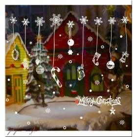 クリスマス ガラスフィルム ウォールステッカー C クリスマスステッカー インテリアシール クリスマスツリー 壁紙 窓