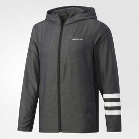 (セール)adidas(アディダス)メンズスポーツウェア ジャケット CC デニムウーブンジップパーカー M DKJ88 BS0355 メンズ ブラック