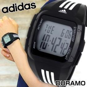 adidas アディダス DURAMO デュラモ Performance パフォーマンス デジタル 黒 白 メンズ 腕時計 ブラック ホワイト ウレタン バンド ADP6089 海外モデル
