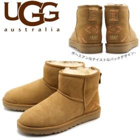 アグ オーストラリア UGG AUSTRALIA ムートンブーツ レディース アグブーツ クラシック ミニ ラスティック ウィーブ