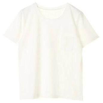 アースミュージックアンドエコロジー earth music&ecology ベーシッククルーネックTシャツ (Off White)