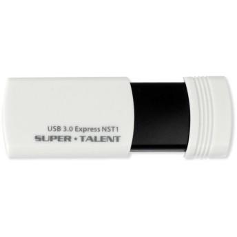 SUPERTALENT USB3.0フラッシュメモリ 32GB ワンプッシュスライド Read:90MB/sストラップホール付 ST3U32NST1