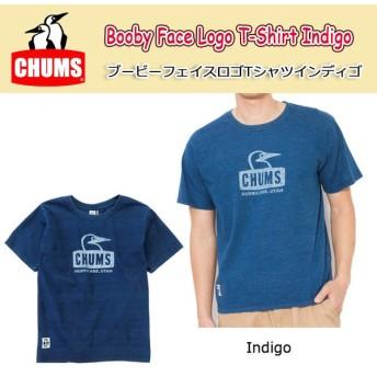 チャムス chums Tシャツ メンズ Booby Face Logo T-Shirt Indigo ブービーフェイスロゴTシャツインディゴ CH01-1198 【服】日本正規品【メール便・代引不可】