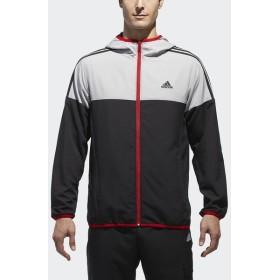 (セール)adidas(アディダス)メンズスポーツウェア ジャケット M SPORT ID カラーブロック クロスフルジップパーカー ETZ59 CX3369 メンズ ブラック/グ...