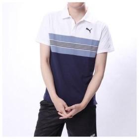 プーマ PUMA メンズ 半袖ポロシャツ エッセンシャル ボーダースキッパー 851241